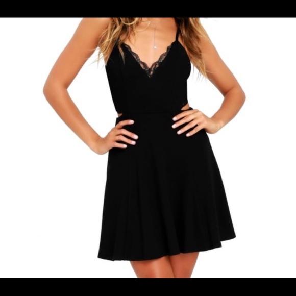 Lush Dresses & Skirts - Lush Perfect Evening Lace Skater dress